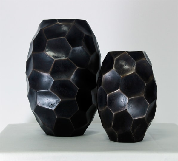 Black Colored Glass Vase