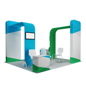 Exhibition stand design set