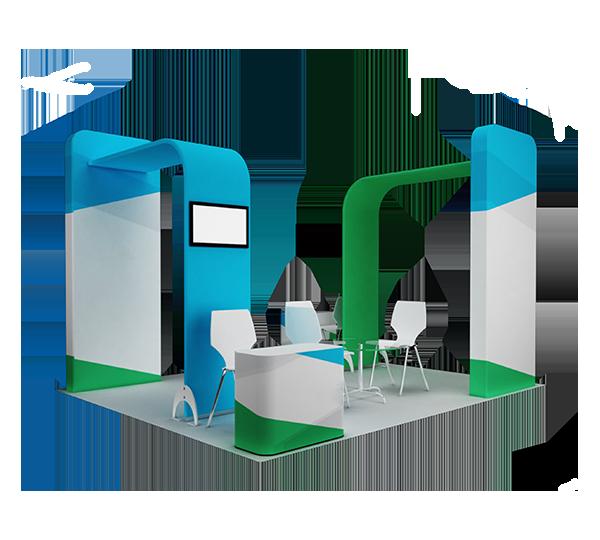 Exhibition stand design set