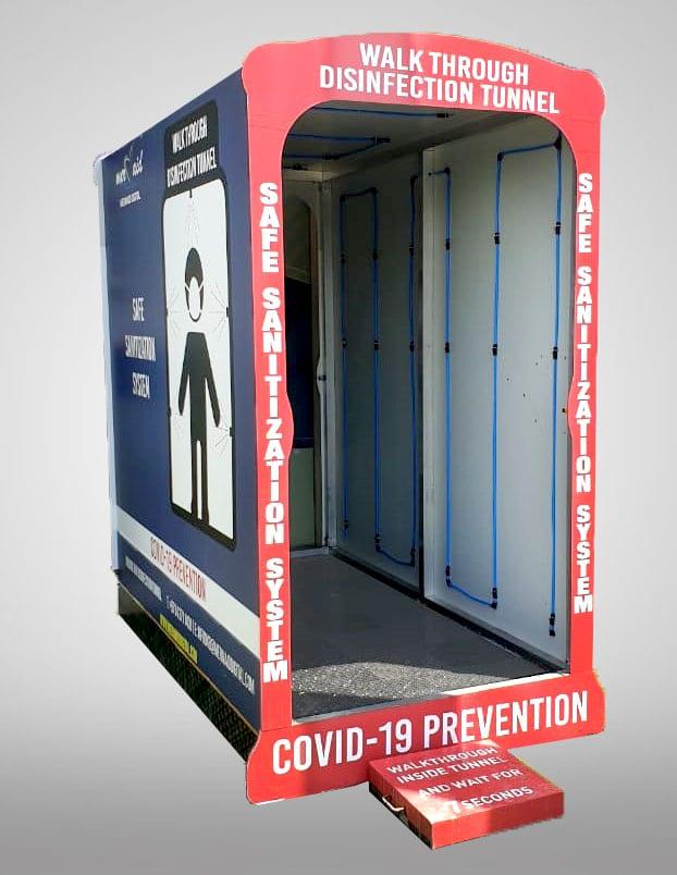Sanitization system stand